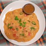 インド式トマト・オムレツ (ベジ・オムレツ)