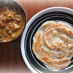 インドのうず巻きパン(パロタ)