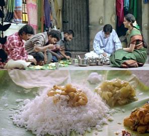 映画【Thirumalai】 ミールスの場面より